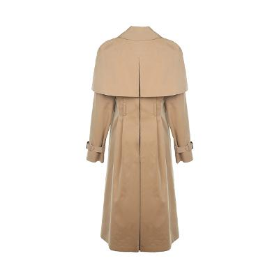 cape detail trench coat beige